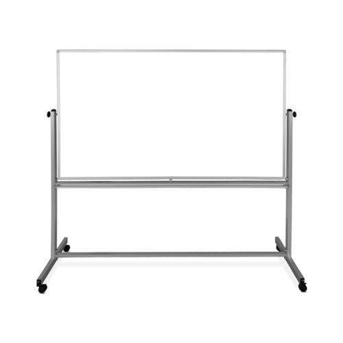 "Luxor 72"" x 48"" Reversible Mobile Steel Magnetic Whiteboard (MB7248WW) Image 1"