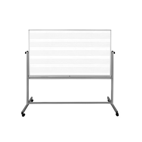 "Luxor 72"" x 48"" Two-Sided Mobile Magnetic Music Whiteboard (MB7248MW) Image 1"