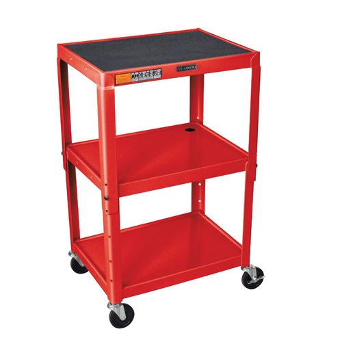 Adjustable Height Shelf Steel Cart