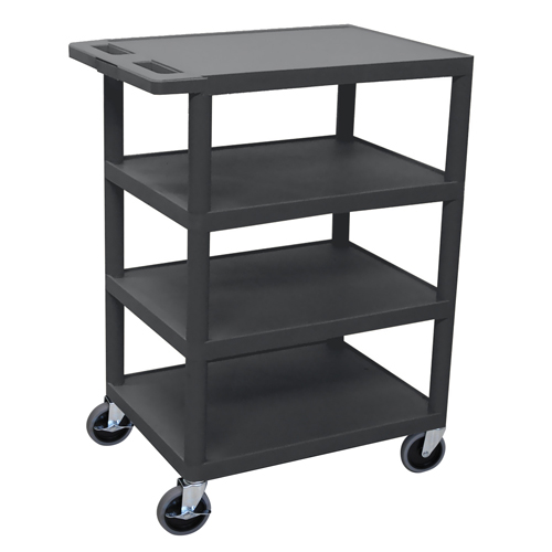 Flat Shelf Molded Plastic Utility Cart Image 1