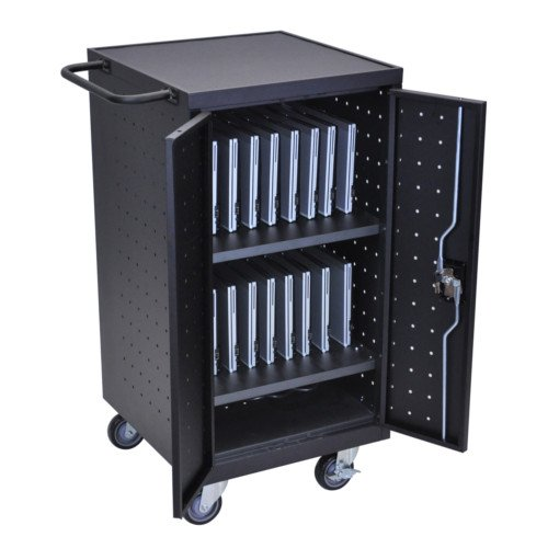 Luxor Black 18 Tablet and Laptop Computer Charging Cart (LLTP18-B) Image 1