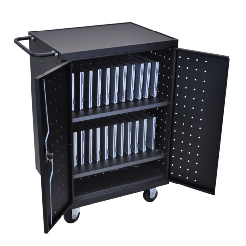 Luxor Black 24 Tablet and Laptop Computer Charging Cart (LLTP24-B) - $787.92 Image 1