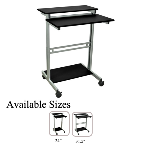 Luxor Black Stand Up Presentation Station (Standup-2431.5-B) Image 1