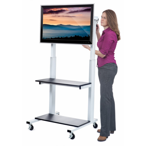 Luxor Crank Adjustable Flat Panel LCD TV Cart (CLCD) Image 1
