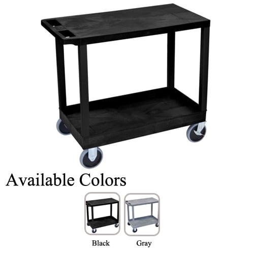 "Luxor 32"" x 18"" High Capacity 1-Flat/1-Tub Shelf Utility Carts (EC21HD), Luxor brand Image 1"