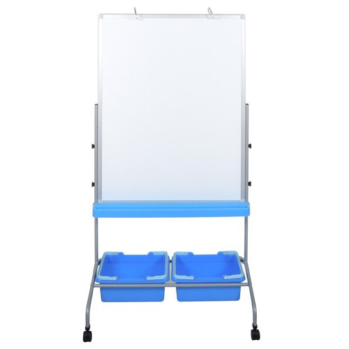 Luxor Classroom Whiteboard Stand with Storage Bins (L330) Image 1