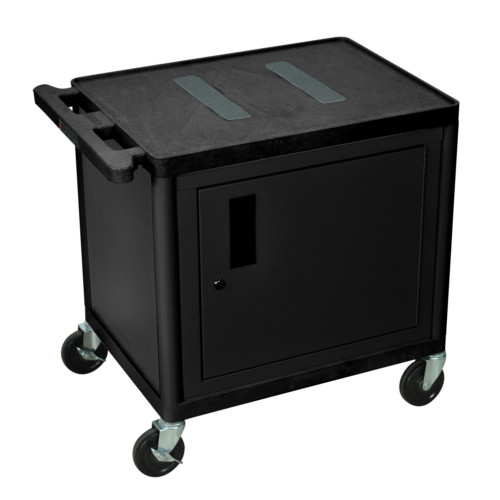 Endura High Shelf Utility Cart with Cabinet