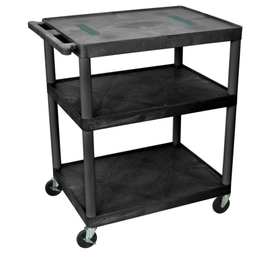 "Luxor 40.25"" High Black 3-Shelf Endura A/V Utility Cart (LE40-B) - $166.6 Image 1"