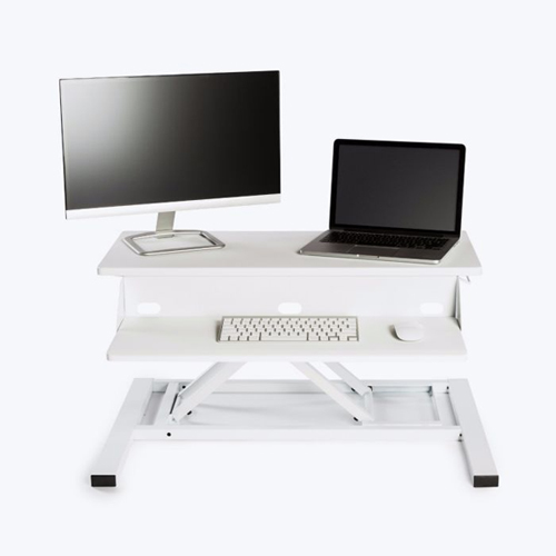 "Luxor Level Up Pro White 32"" Standing Desk Converter - LVLUP PRO32-WH (LVLUPPRO32-WH) - $201 Image 1"