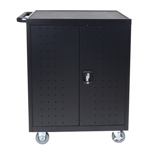 Luxor Black 32 Laptop/Chromebook Charging Cart with Timer (LLTP32-B) Image 1