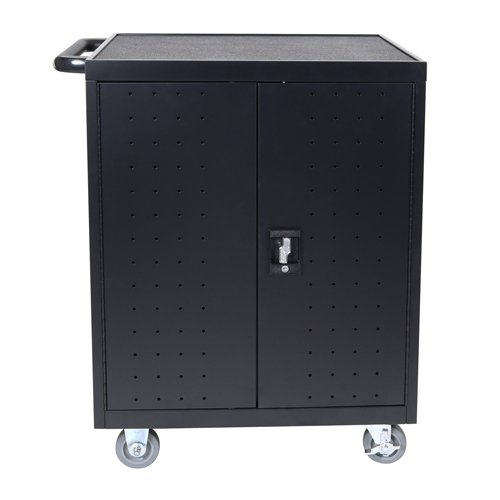 Luxor Black 32 Laptop/Chromebook Charging Cart with Timer (LLTP32-B) - $1026.48 Image 1