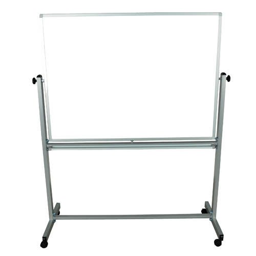 "Luxor 48"" x 36"" Reversible Magnetic Steel Mobile Whiteboard (MB4836WW) Image 1"
