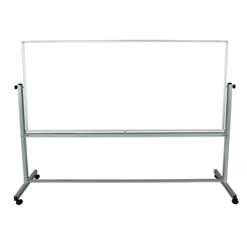 "Luxor 94"" x 40"" Reversible Magnetic Steel Mobile Whiteboard (MB9640WW) Image 1"