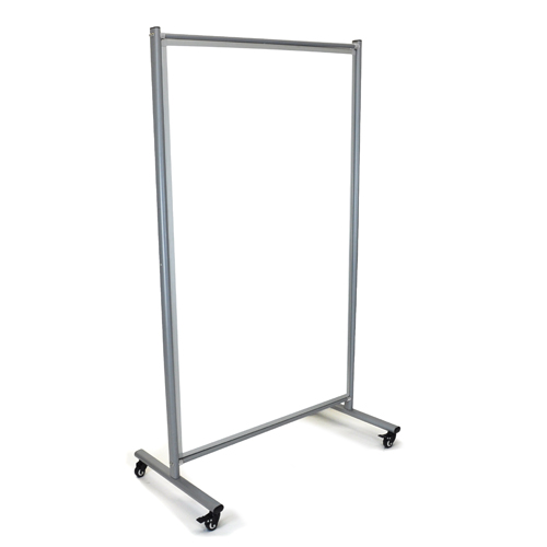 Luxor Reversible Mobile Magnetic Whiteboard Room Divider (MD4072W) Image 1