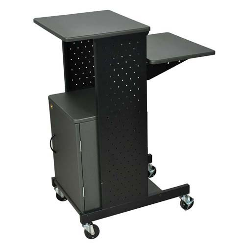 Luxor Gray Presentation Workstation with Cabinet and Steel Frame (PS4000C) Image 1