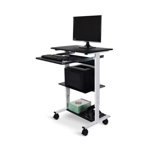 Luxor Three-shelf Adjustable Stand Up Workstation (STAND-WS30) Image 1