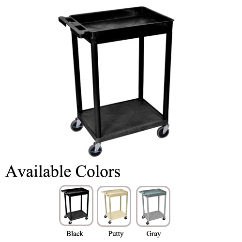 Luxor Top Tub and Bottom Flat Shelf Utility Cart (STC12-TTBFSUC) Image 1