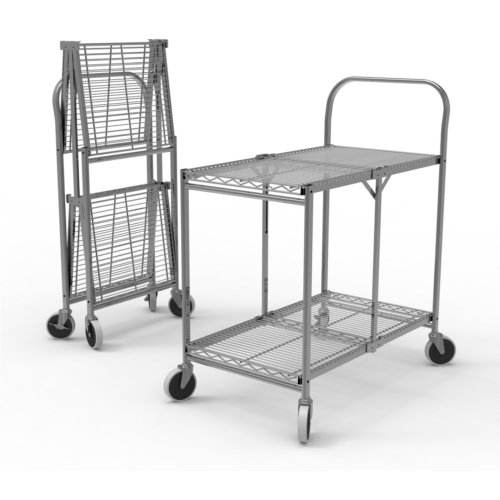 Luxor Two-Shelf Collapsible Wire Utility Cart (WSCC-2) Image 1
