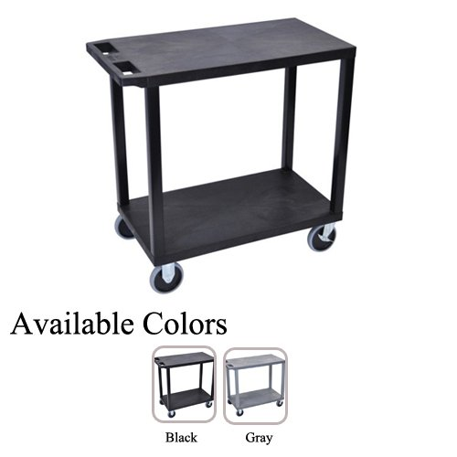 "Luxor 32"" x 18"" High Capacity 2-Flat Shelf Utility Carts (EC22HD) - $93.79 Image 1"