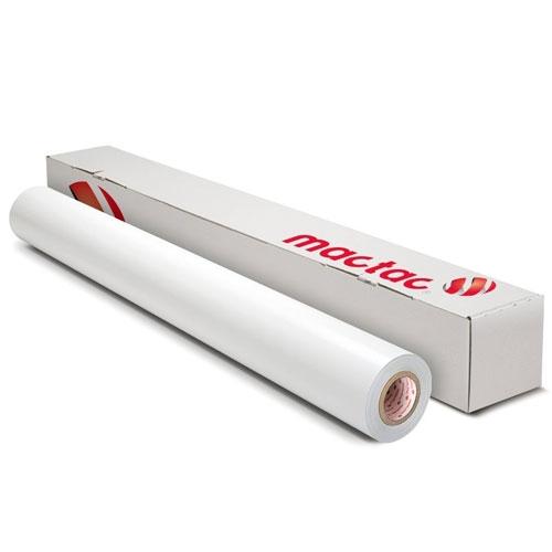 Mactac IMAGin B-free GRUV GVC929BFD 2mil Gloss White Full Wrap Print Media (MACTAC-GVC929BFD)