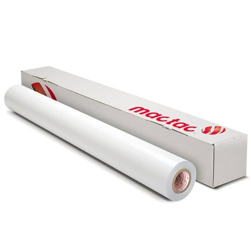 "Mactac IMAGin M-Dot 5.7mil 54"" x 164' Matte White Window Print Media w/ Dot Patterned Adhesive (MD128W54L164) Image 1"