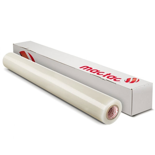 "Mactac Rebel RB599H 4mil Gloss Clear High-Tack 54"" x 150' Vinyl Print Media (RB599HW54L150), Brands Image 1"