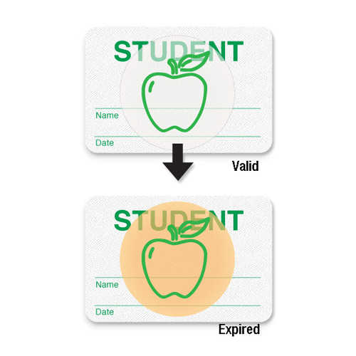 Manual Expiring School Badge - Student - 1000pk (08107) Image 1