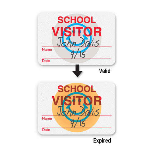 Manual Expiring School Badge - Visitor - 1000pk (08106) Image 1
