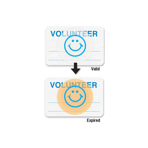 Manual Expiring School Badge - Volunteer (MYID08109) Image 1