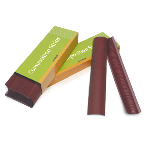 "Powis Parker Maroon 8.5"" Wide Fastback Composition Strips (WA031) Image 1"