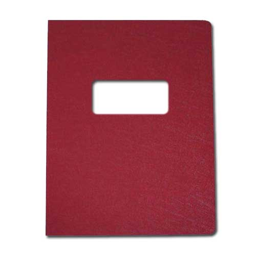 "16mil Maroon Leather Grain Poly 8.5"" x 11"" Covers With Windows (50 sets) (AKCLT16CSMR01W) Image 1"