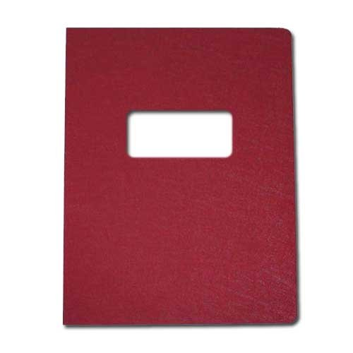 "16mil Maroon Leather Grain Poly 8.75"" x 11.25"" Covers With Windows (50 sets) (AKCLT16CRMR01W) Image 1"