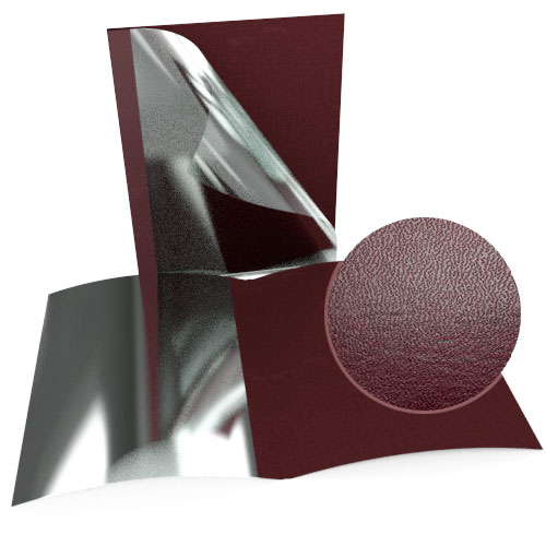 """1-1/2"""" Maroon Leatherette Regency Clear Front Thermal Covers - 100pk (SO800T112MRC) Image 1"""