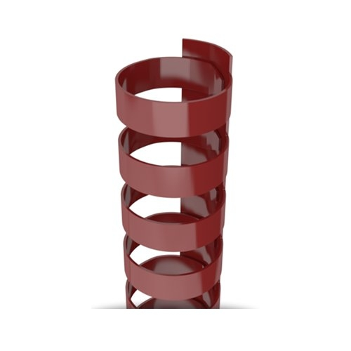 """7/8"""" A4 Size Maroon Plastic Binding Combs 21 Rings - 100pk (TC780A4MRN) Image 1"""