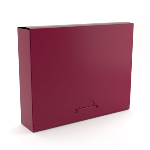 "1.5"" Letter Maroon Poly Document Boxes (MYPDB150MR) Image 1"