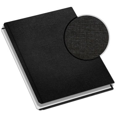 "MasterBind 11"" x 9"" Black Classic Linen Hard Covers with Tabs - 20 Covers / Pack (1161-64200) - $31.29 Image 1"