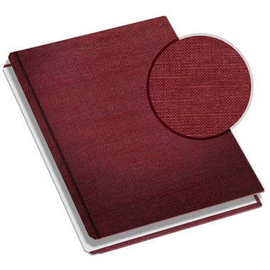 "MasterBind 11"" x 9"" Burgundy Classic Linen Hard Covers w/Tabs - 20 Covers / Pack (1161-64250) Image 1"