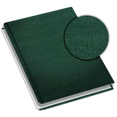 "MasterBind 11"" x 9"" Green Classic Linen Hard Covers with Tabs - 20 Covers / Pack (1161-64205) Image 1"