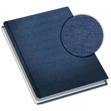 "MasterBind 11"" x 9"" Navy Classic Linen Hard Covers with Tabs - 20 Covers / Pack (1161-64212) - $31.29 Image 1"