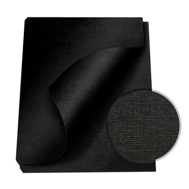 "MasterBind Black 8.5 x 11"" Linen Soft Covers - 100pk (1151-73D00) Image 1"