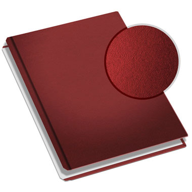 "MasterBind Burgundy 11"" x 9"" Premium Leather Hard Covers w/Tabs- 20 Covers / Pack (1161-94250) Image 1"