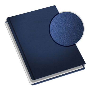 "MasterBind Navy 11"" x 8.5"" Premium Leather Hard Covers - 20/BX (1161-91212) Image 1"