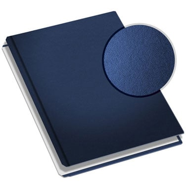 "MasterBind Navy 11"" x 9"" Premium Leather Hard Covers w/Tabs- 20 Covers / Pack (1161-94212) Image 1"