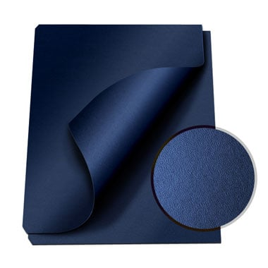 "MasterBind Navy 8.5 x 11"" Composition Soft Covers - 100pk (1151-75D12) Image 1"