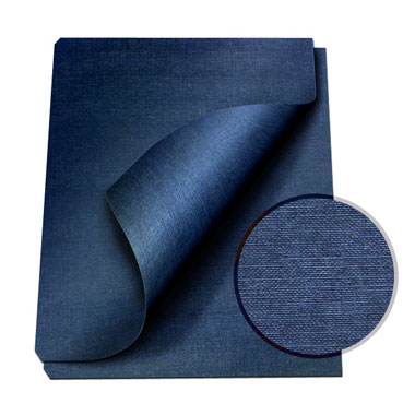 "MasterBind Navy 8.5 x 11"" Linen Soft Covers - 100pk (1151-73D12) - $25.89 Image 1"