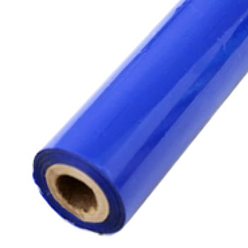 "2"" x 200' Matte Blue Hot Stamp Foil Roll (1/2"" Core) (MYBF1272X200F) - $17.59 Image 1"