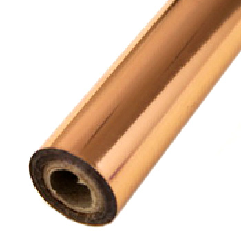 "4"" x 200' Matte Copper Hot Stamp Foil Roll (1/2"" Core) (MYBF1254X200F), MyBinding brand Image 1"