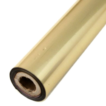 "3.5"" x 200' Matte Gold Hot Stamp Foil Roll (1/2"" Core) (MYBF1213.5X200F) Image 1"
