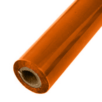 "6"" x 200' Matte Orange Hot Stamp Foil Roll (1/2"" Core) (MYBF1706X200F) - $46.39 Image 1"