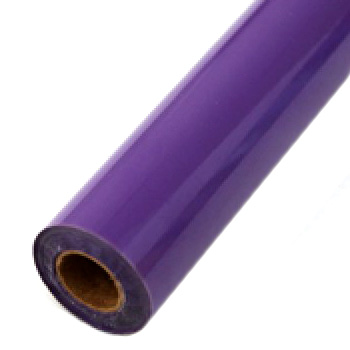 "6"" x 200' Matte Purple Hot Stamp Foil Roll (1/2"" Core) (MYBF1136X200F) Image 1"
